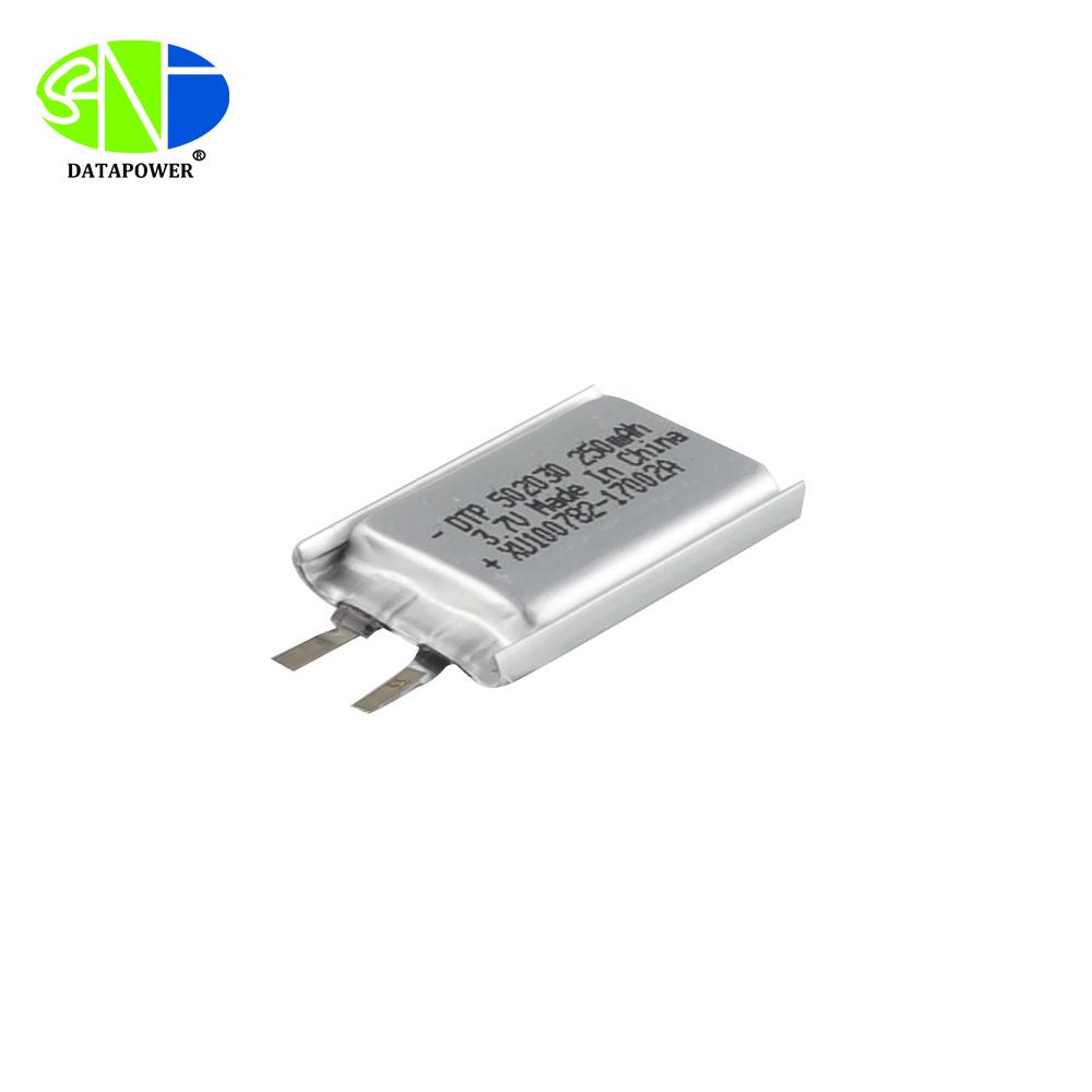UL CB KC CE MSDS Certified 3.7v lipo 502030 250mAh li polymer battery cell