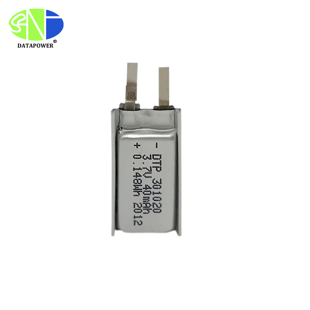 301020 lithium polymer battery 40mAh 0.148Wh