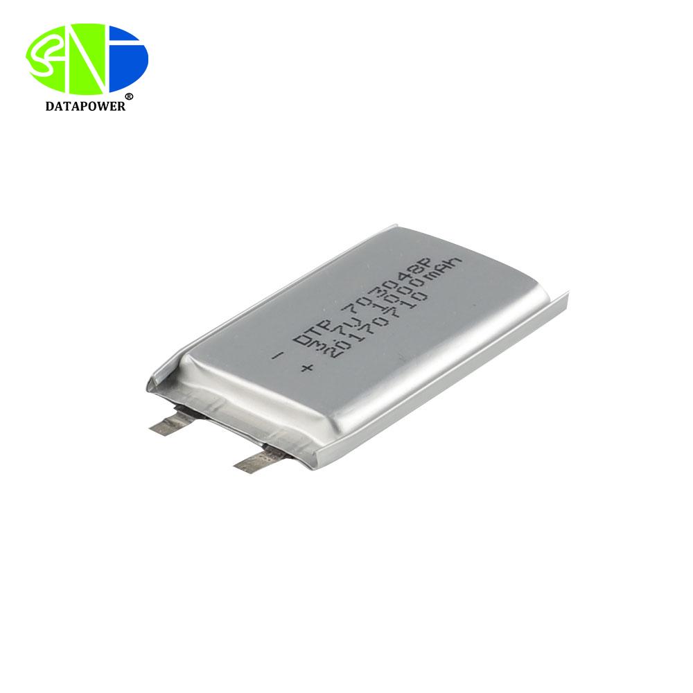 3.7v Li polymer battery 703048 1000mAh with KC CB CE BIS UN38.3 certificate