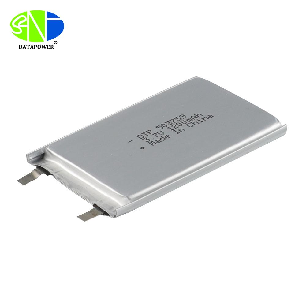 Lipo 3.7v lithium ion polymer battery 503759 1200mAh