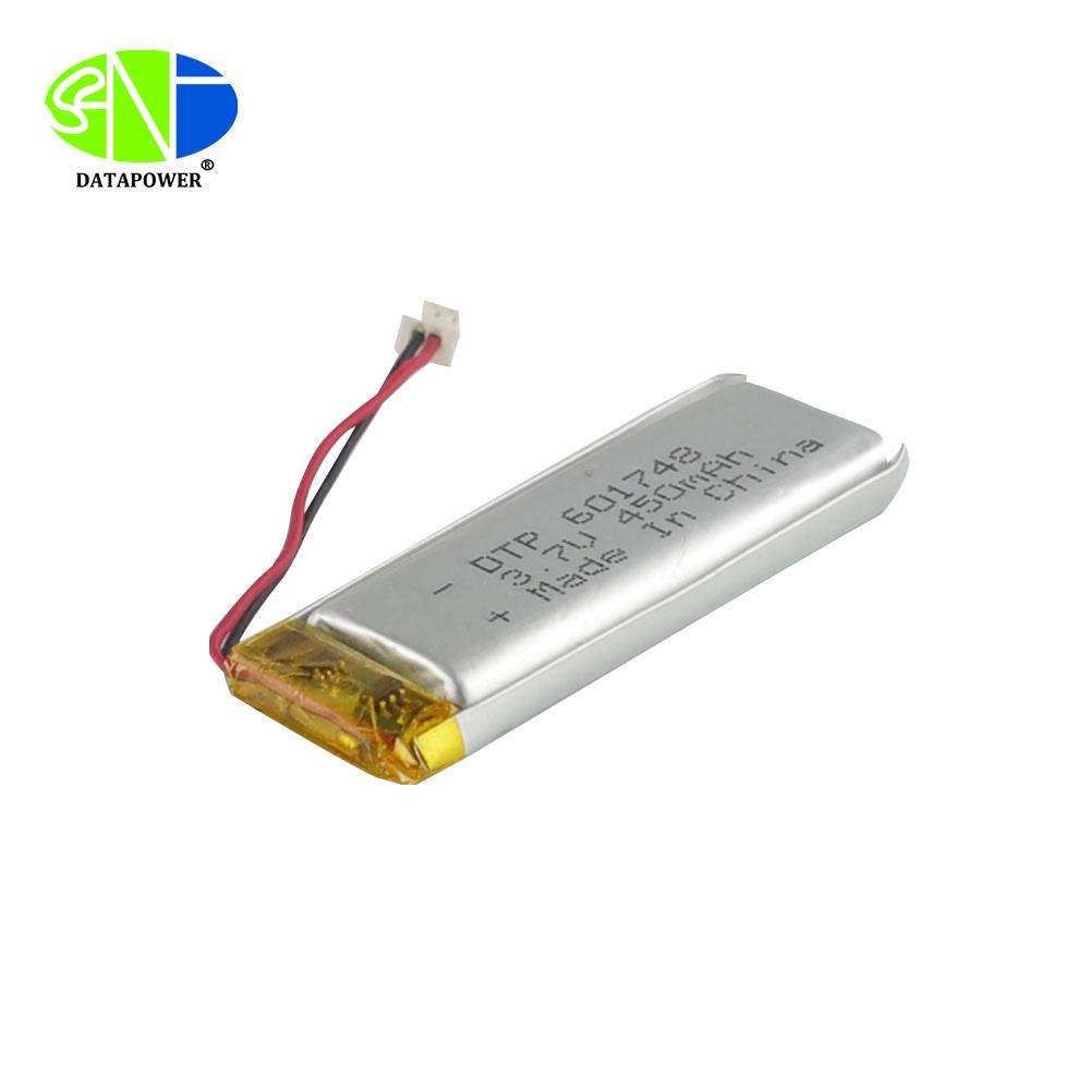 Lithium ion polymer battery 601748 3.7v 450mAh