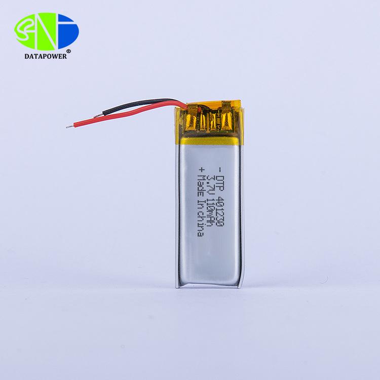 3.7v 110mAh Lithium polymer battery 401230 for bluetooth earphone