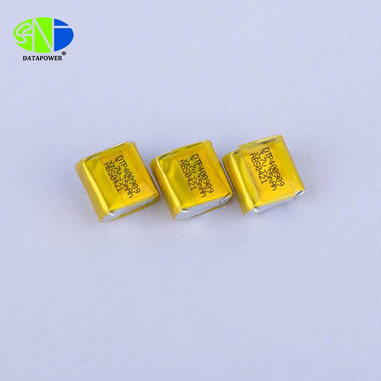 400909 3.7v 35mAh Mini lithium ion polymer battery for bluetooth earphone & vibrator