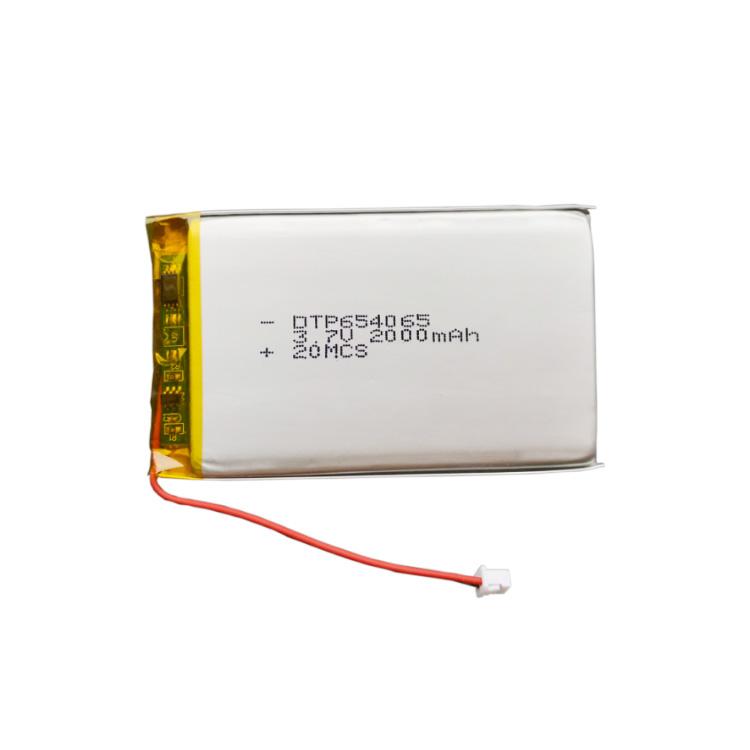 Factory Price Lipo 654065 3.7V 2000mAh Li Polymer Battery for Talkback