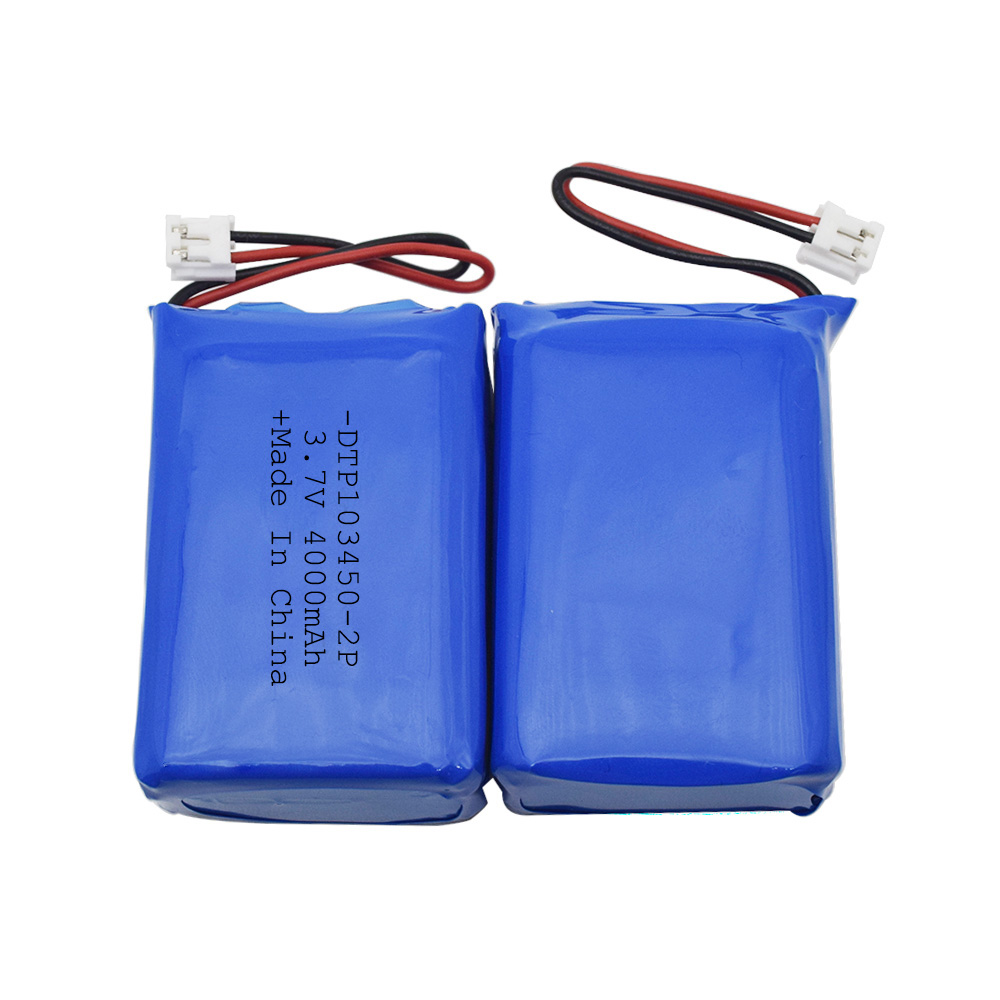Lipo battery 4000mah 3.7v battery DTP103450-2P for multicopter and tablet pc made in china