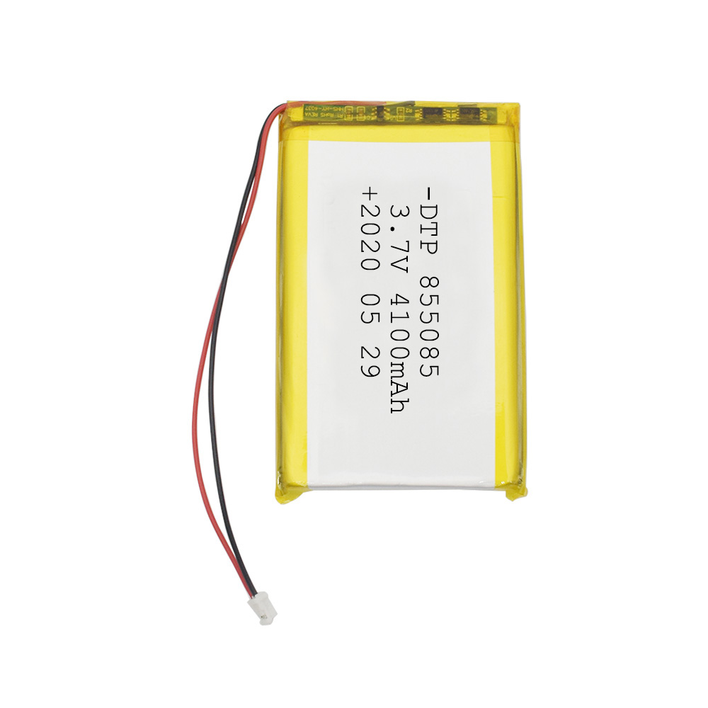 High capacity rechargeable pouch type 855085 3.7V flat lipo battery 4100mah lithium polymer battery