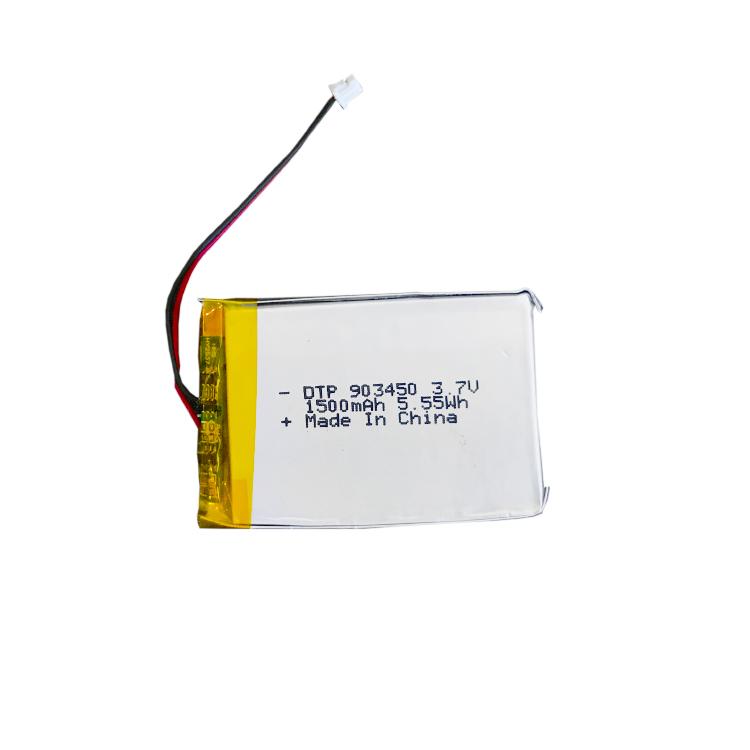 li-polymer battery 3.7v 1500mah 903450
