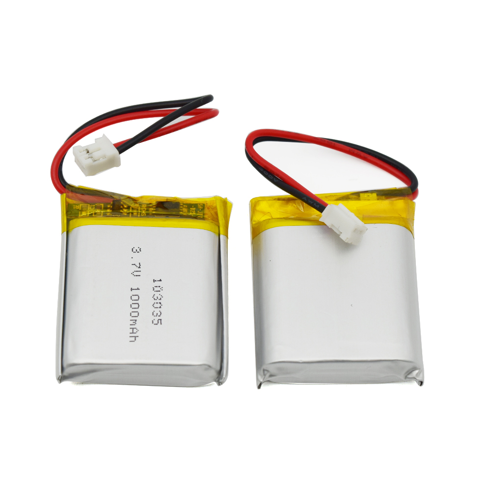 3.7V 103035 1000mAh Li ion Polymer cell rechargeable Pouch lithium battery