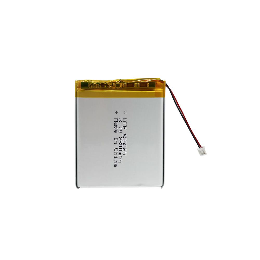 KC Approved Lithium Polymer Battery 3.7V 2800mAh Lipo Batteries DTP 655565