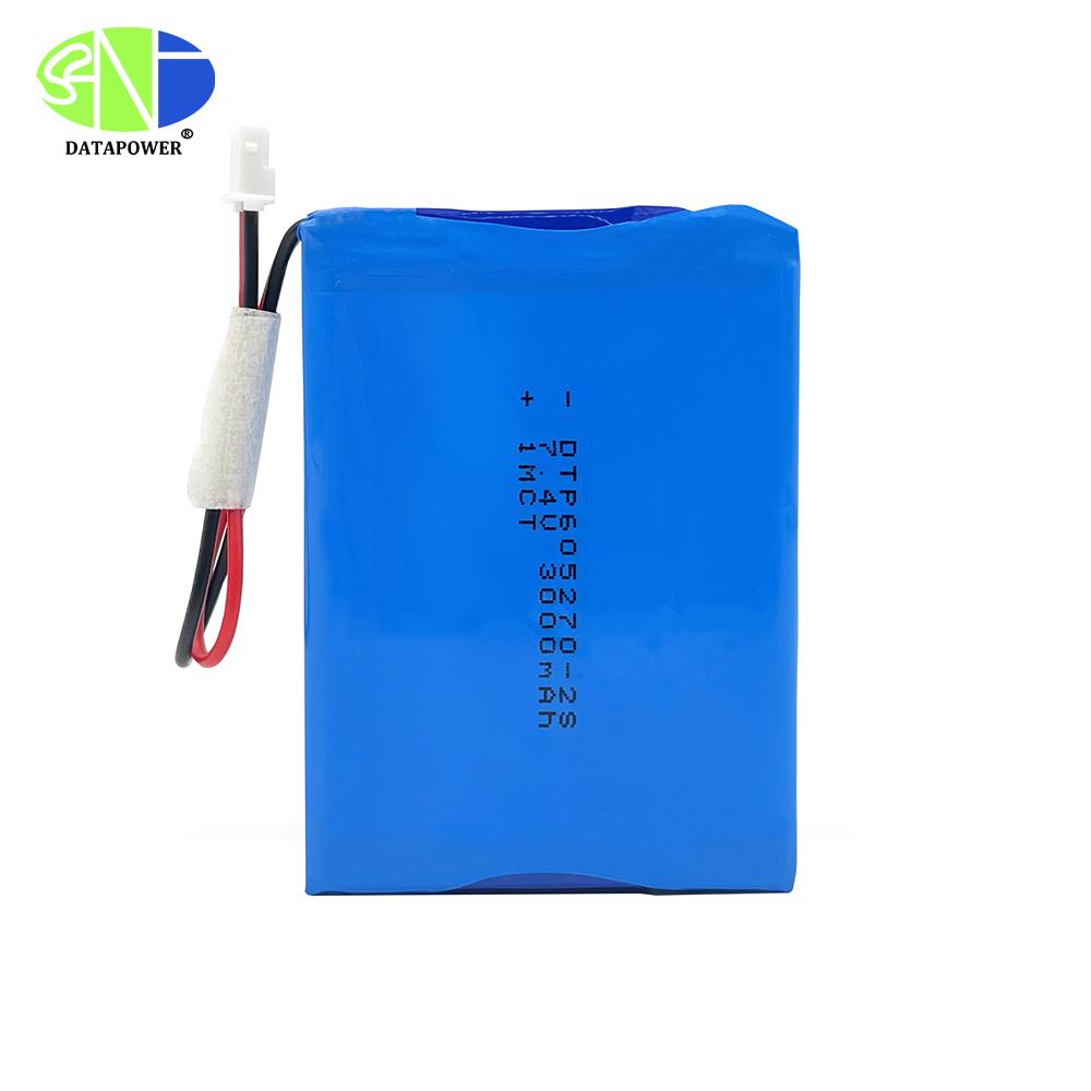 Customized rechargeable flat polymer li-ion battery 7.4v 3000mAh