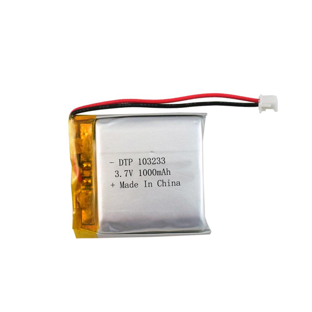 li-polymer li-po battery battery 103233 3.7v 1000mah rechargeable li-ion battery