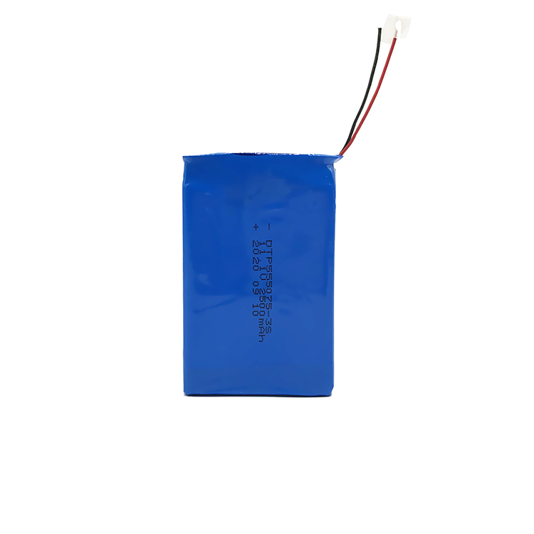 Factory Price Rechargeable DTP555075-3S Lithium Polymer Battery Lipo Battery 11.1V 2500mah