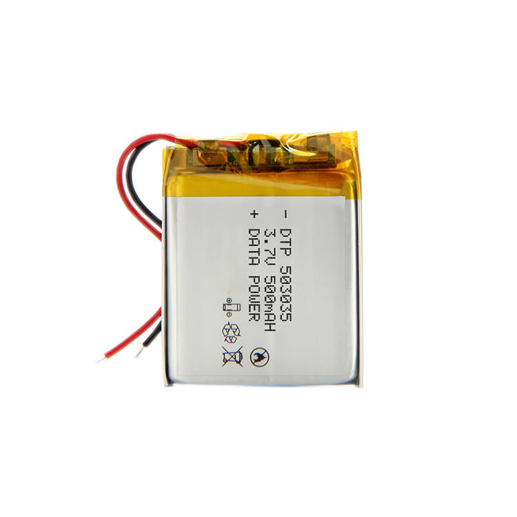 high quality lipo battery DTP503035 3.7V 500mAh battery with KC