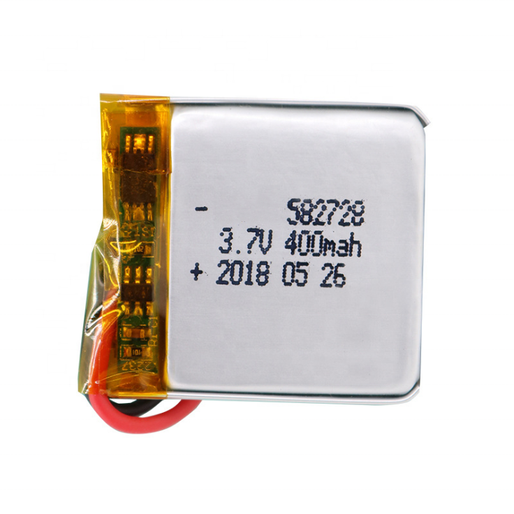 battery lipo 582728 400mah rechargeable batteries 3.7v lithium ion battery