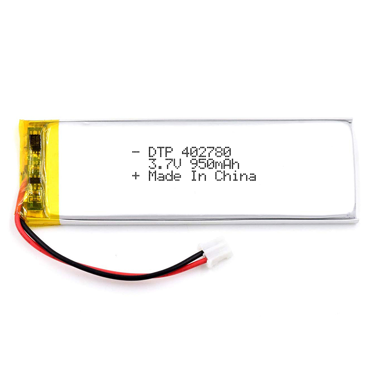 Lithium polymer rechargeable battery DTP402780 3.7V 900mAh digital lipo battery supply by factory