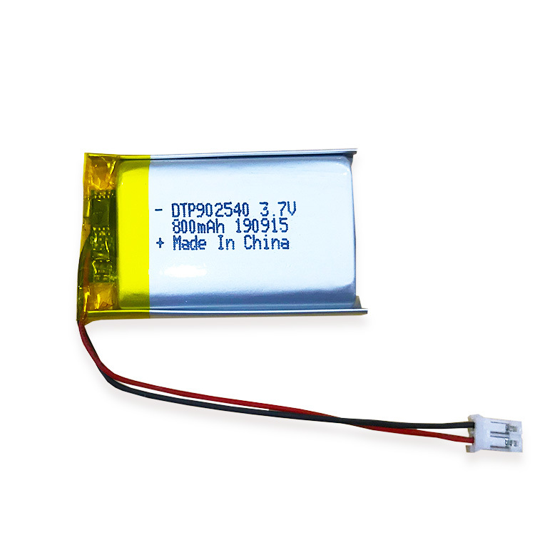 DTP902540 3.7V 800mAh rechargeable lithium polymer small lipo battery
