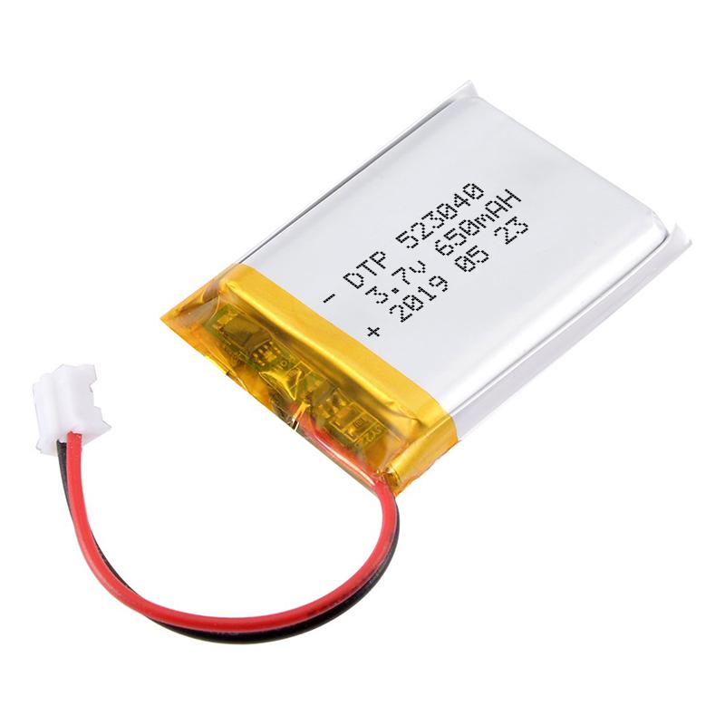 Rechargeable 523040 Lipo 3.7v 650mah polymer battery