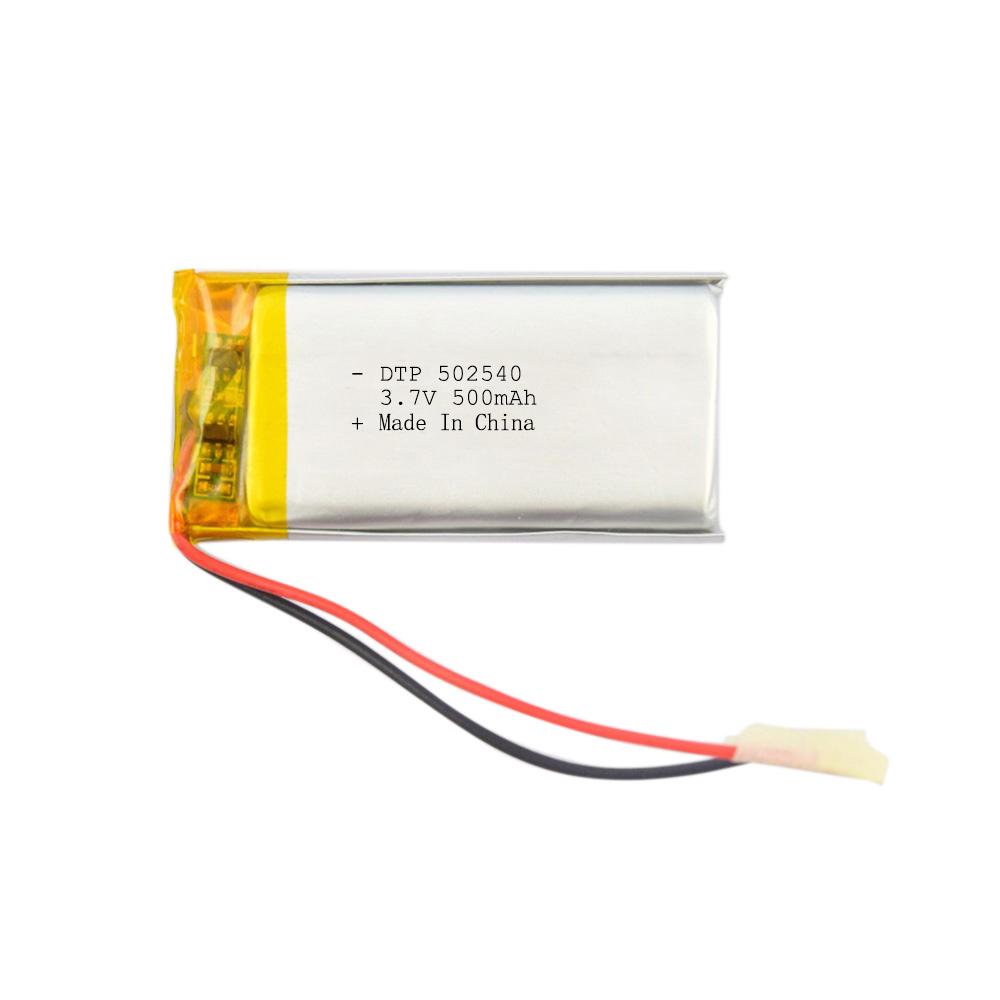 502540 3.7V 500mAh ternary polymer lithium battery
