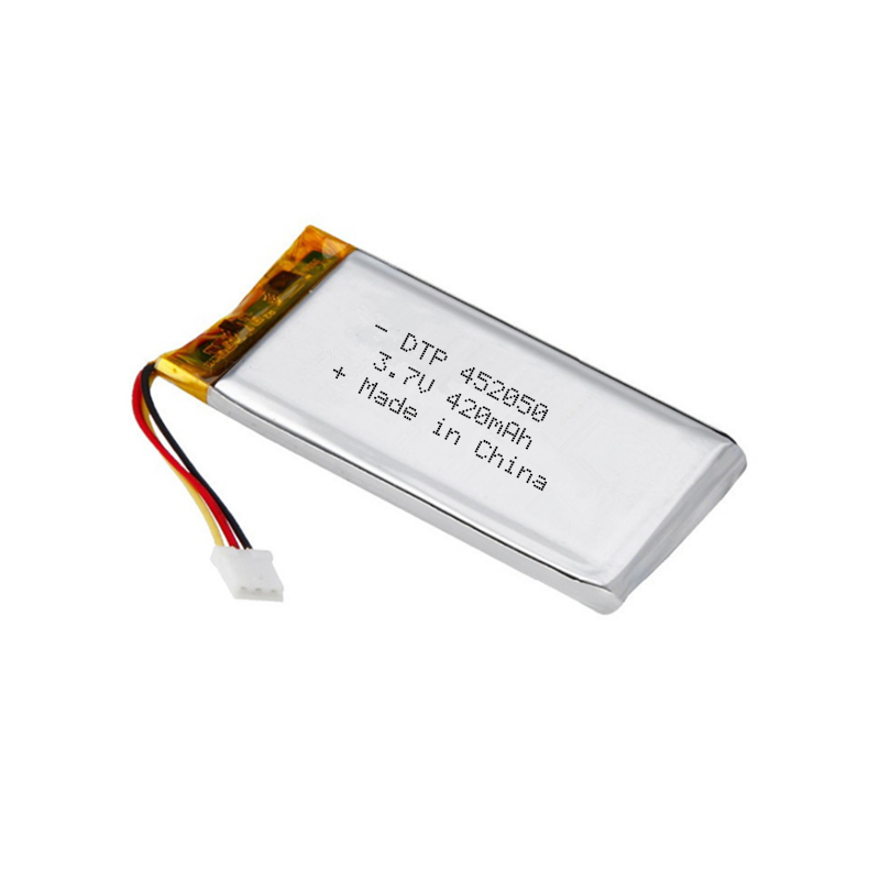 Rechargeable lithium polymer 452050 3.7v battery 420mah 450mah for headset