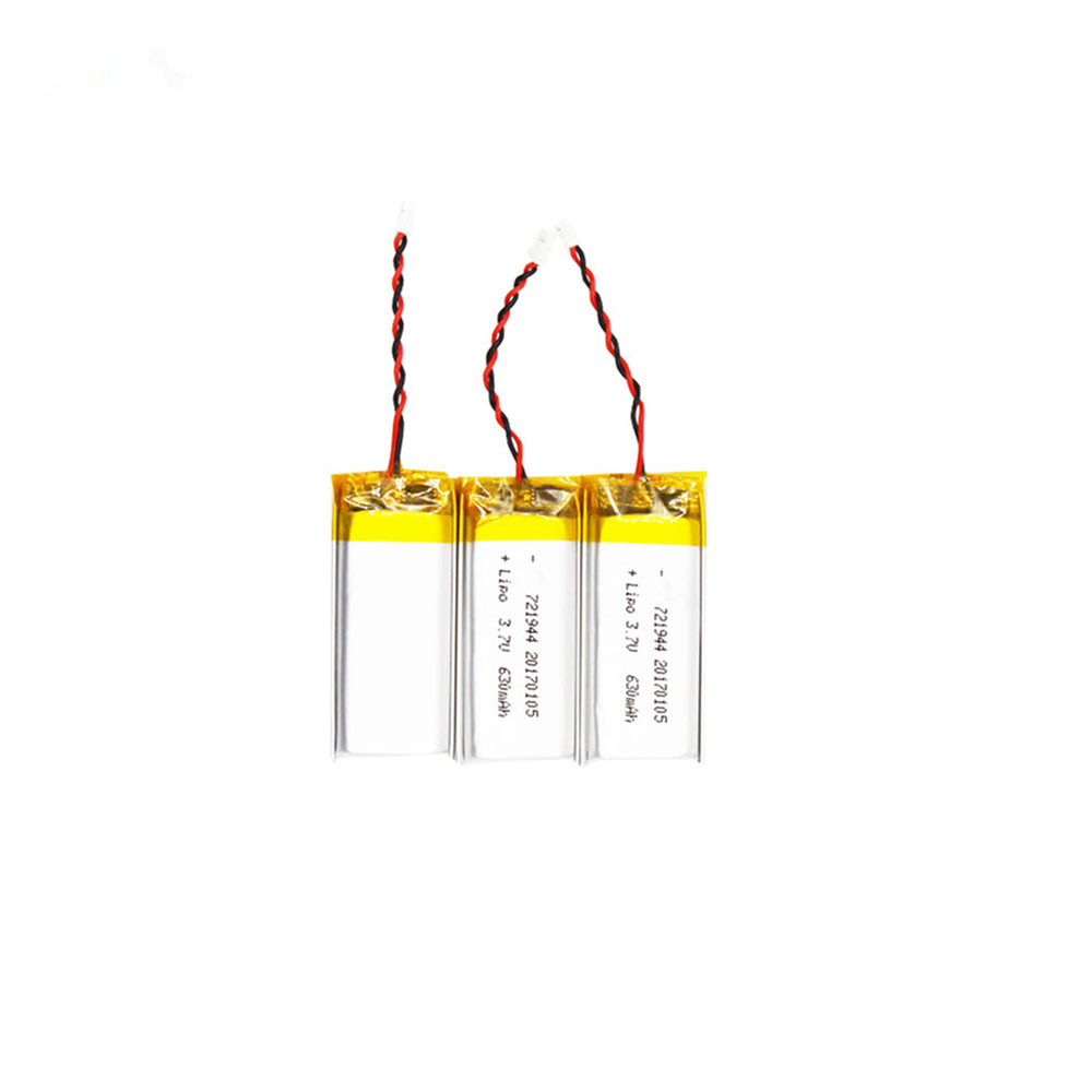 3.7V 630mAh lipo battery cell 721944 lithium li-ion polymer lipo battery