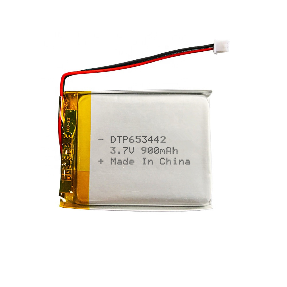 KC CE approved rechargeable lithium batteries DTP653442 900mah 3.7v li-polymer battery