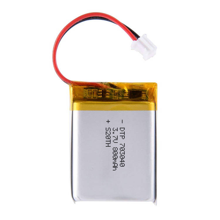 DTP703040 lipo battery 3.7v 800mah rechargeable lithium polymer battery on sale
