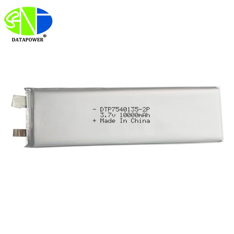 Hight capacity 7540135-2P 3.7v 10000mah 10Ah Li-po Rechargeable Batteries for toys