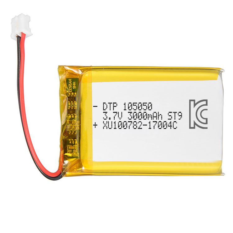 China manufacturer OEM 3.7v li-ion polymer battery 3000mAh DTP105050 lipo battery