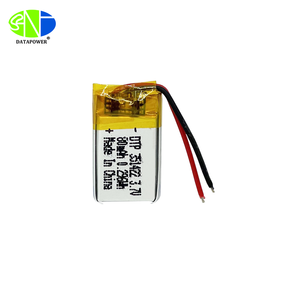 351422 3.7v 80mAh lithium ion polymer battery with PCM