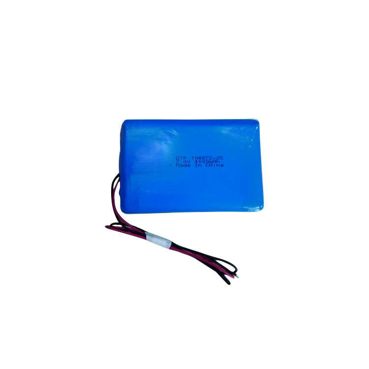 Lithium polymer battery 104872-2S 4000mah 3.7v 7.4v rechargeable lipo battery OEM available for DVD player