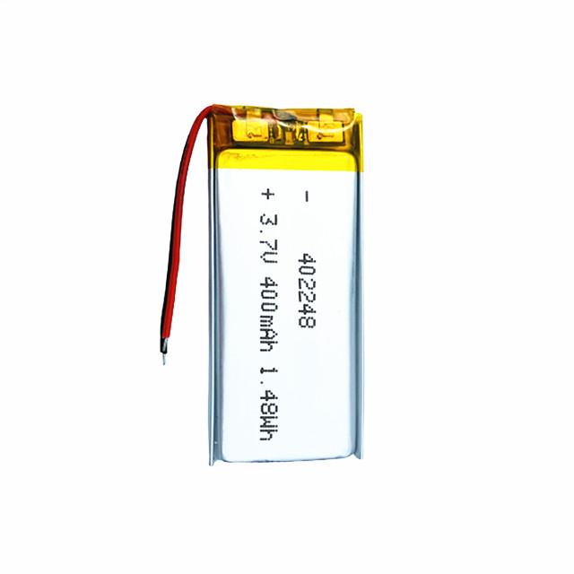 402248 3.7V 400mAh Deep Cycle Small 3.7V Lithium Ion Battery