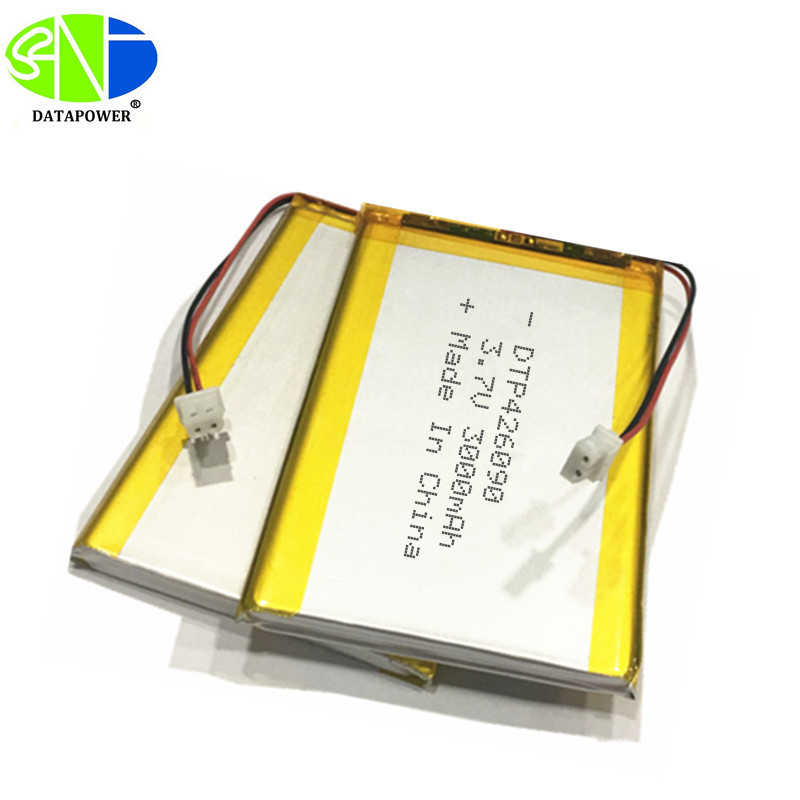 Customized Rechargeable 3.7V 3000mAh 426090 Lipo Battery with CE ROHS Approved
