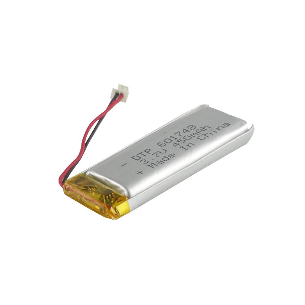 Smart Watch Battery 3.7V Li-Polymer Battery 601748 450mAh Lipo Li-on Battery Flashlight