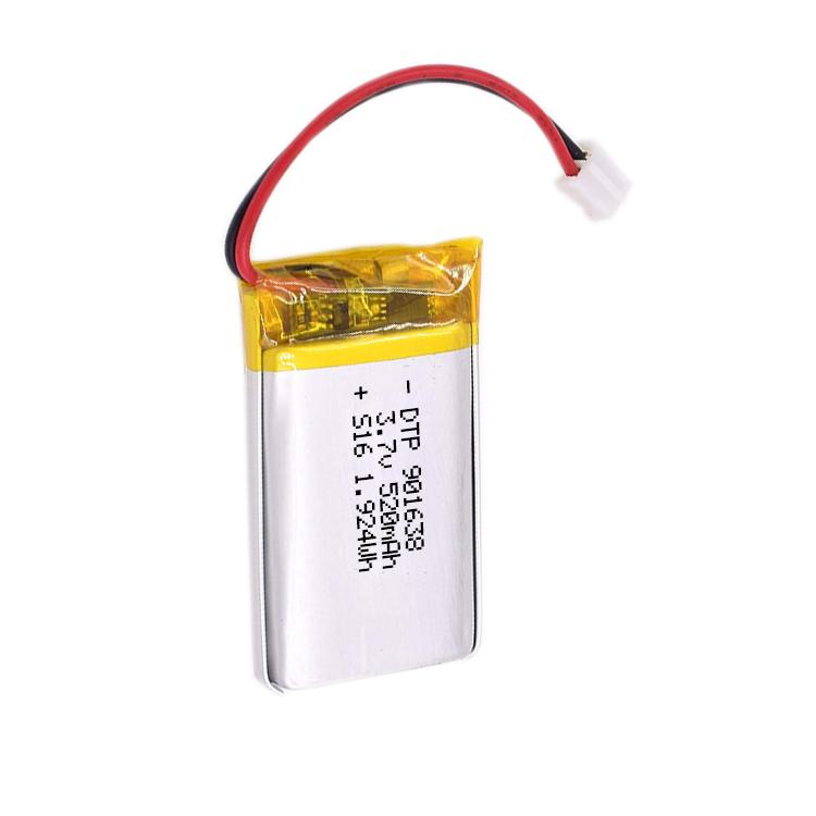 Best price battery 3.7v 520mah DTP901638 1.924wh lipo battery