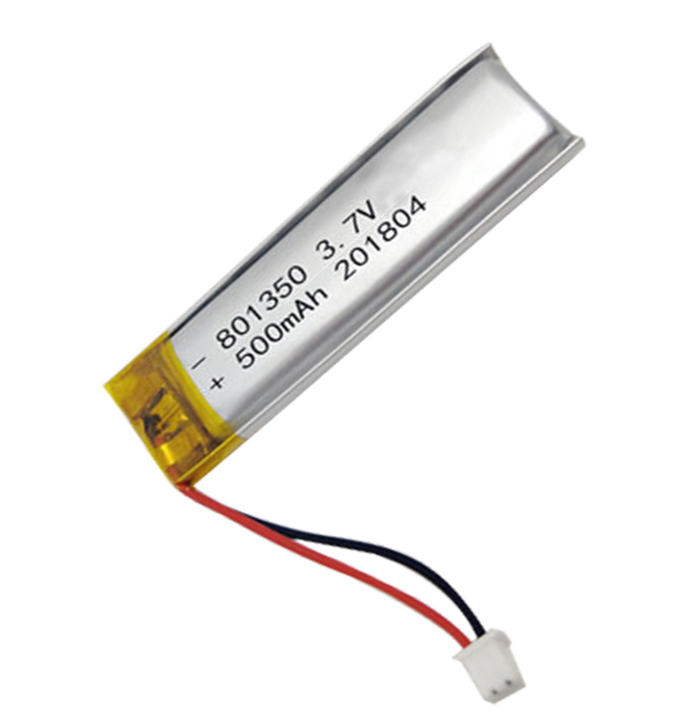 slim 801350 3.7v 500mah 1.85wh lithium polymer battery with UL