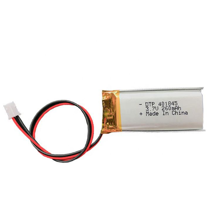 401845 260mAH lithium polymer battery 3.7V