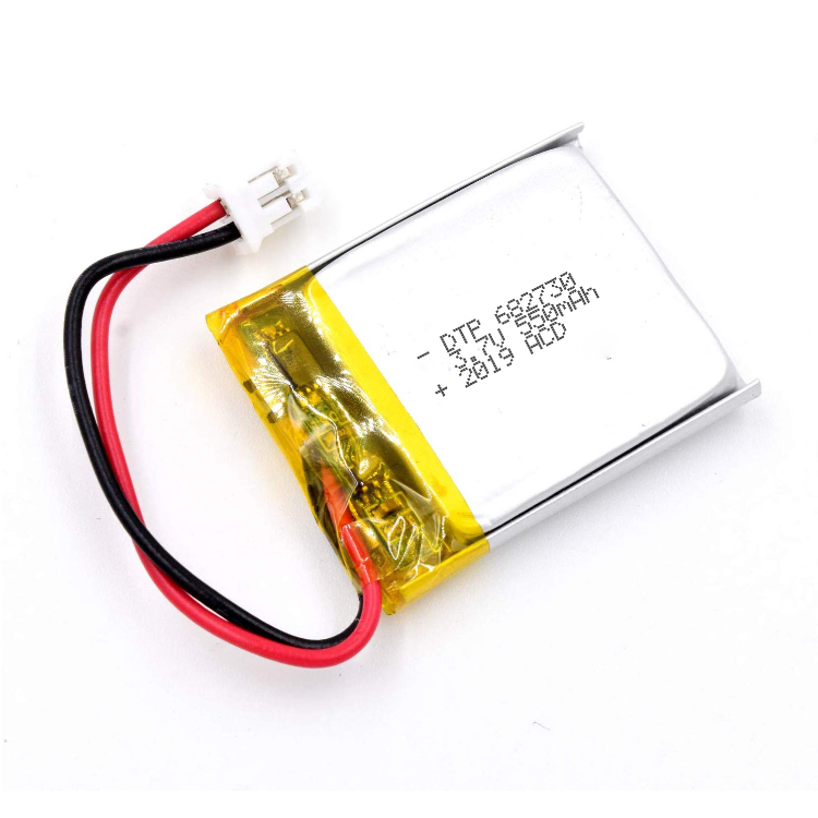 Top quality DTP682730 3.7v 550mah li ion polymer battery
