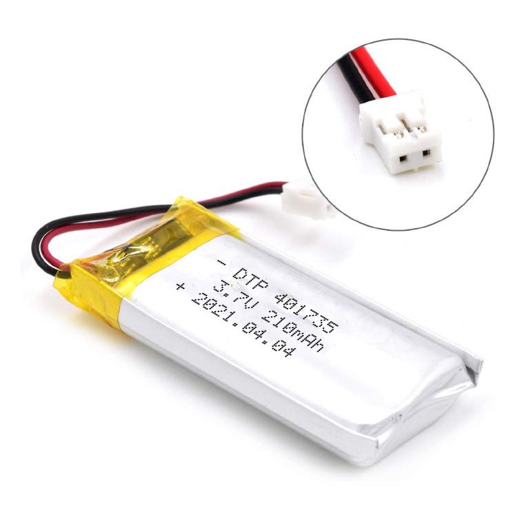 3.7v 210mah lithium polymer battery DTP401735