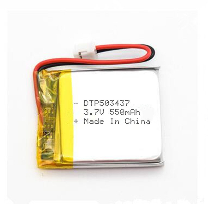 3,7 v 550mah lithium polymer DTP503437 small rechargeable battery