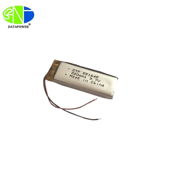 DTP551645 3.7V 320mAh Customized Li-polymer Battery with PCB and Lead Wires